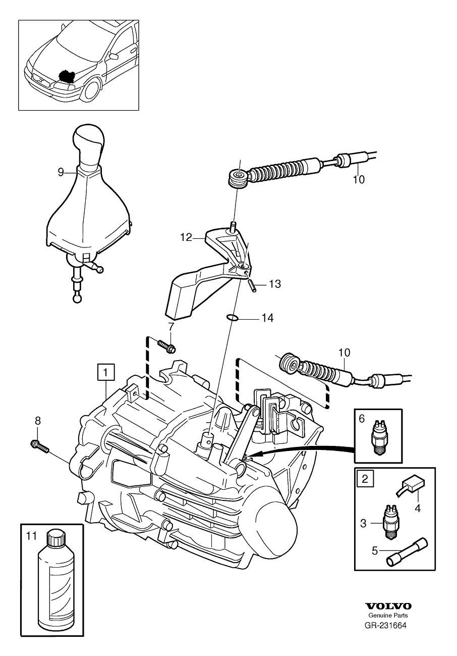 Volvo V70 Transmission oil. Manual, EXC, Gearbox