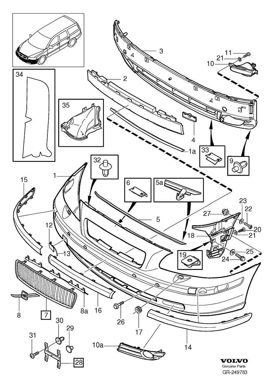 volvo v70 parts diagram volvo 5ffbrvolvo