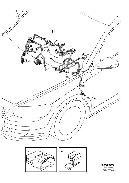 2013 Volvo C30 Wiring Harness. Cable Harness Dashboard