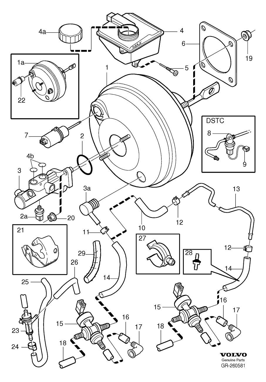 2004 Volvo S80 Brake Master Cylinder. Brake Cylinder