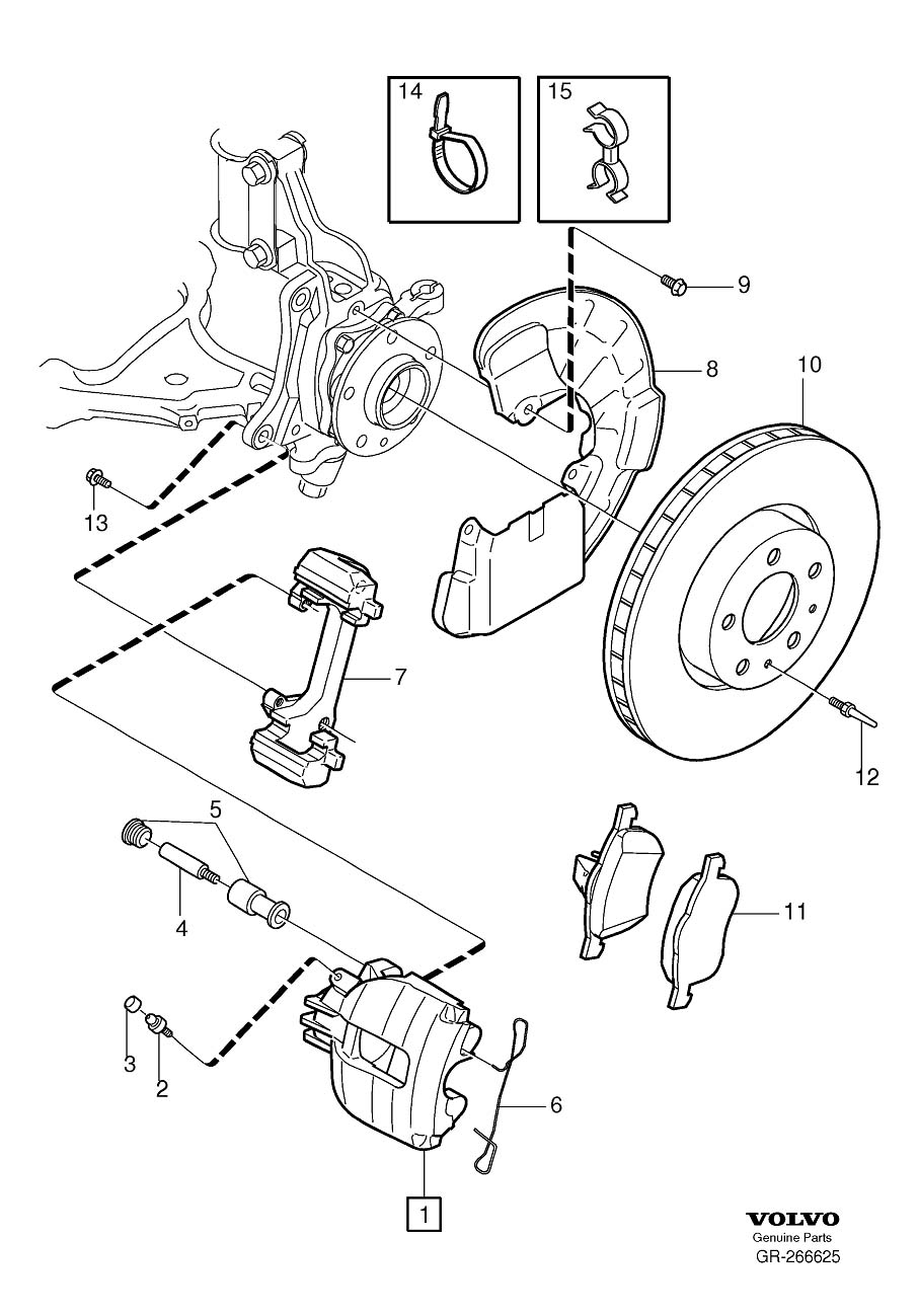 2002 Volvo S60 Disc Brake Rotor Set Screw. HEXAGON SCREW