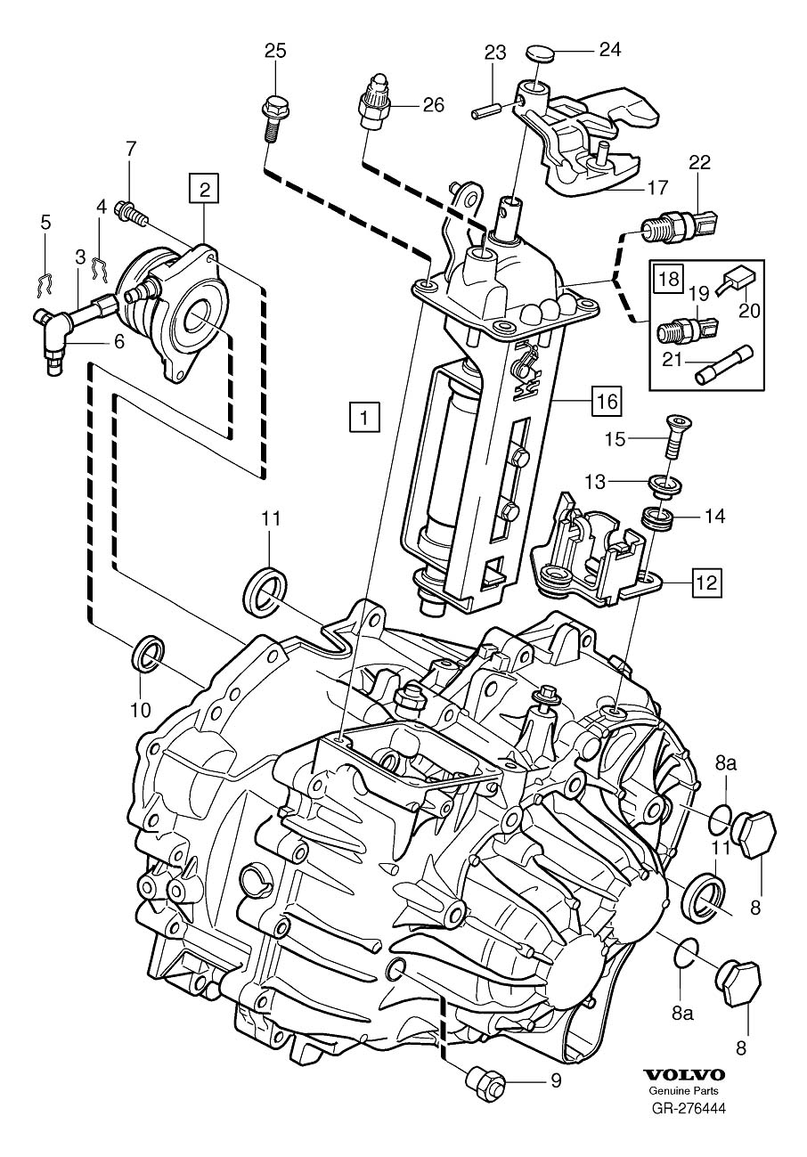 Volvo S60 Manual Transmission Output Shaft Seal. Drive