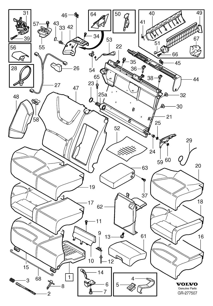 2001 Volvo V70 Guide. Cabin. Carpets. Seat. Three