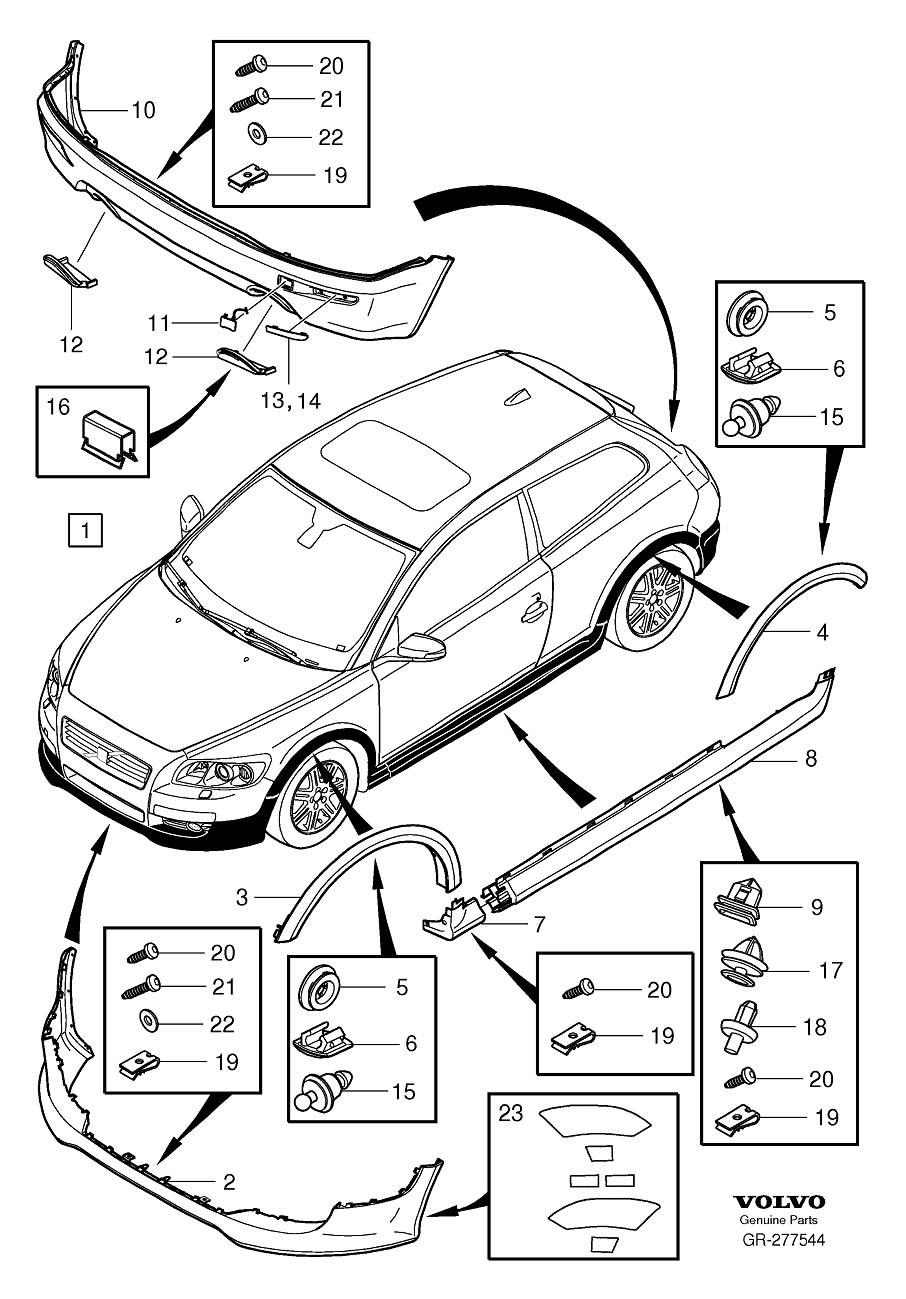 Volvo C30 Valance Panel (Front). Spoiler. Body Kit. Bumper