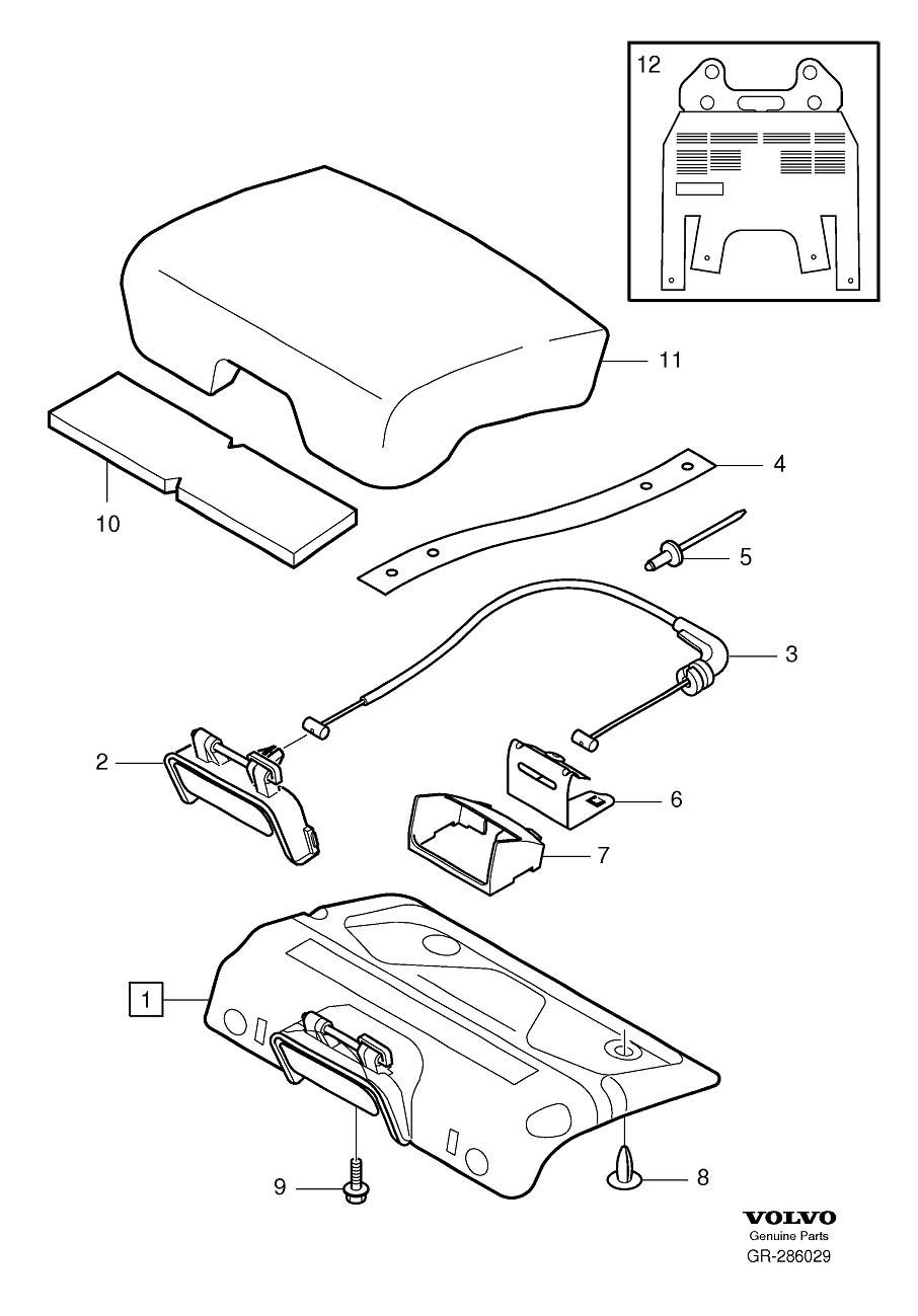 Volvo XC90 Folding Seat Latch Release Handle Bezel (Rear
