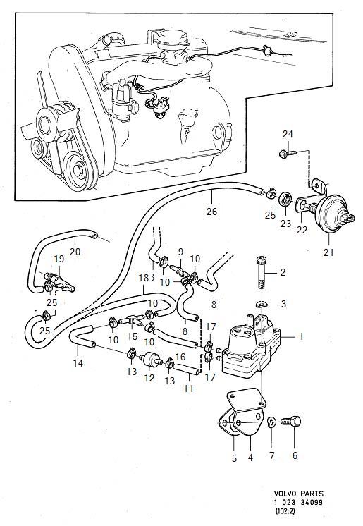 1983 Volvo 240 Control Pressure Valve. Service version