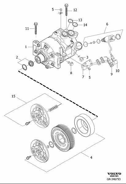 Volvo XC90 Control valve. Compressor, Interior, Body