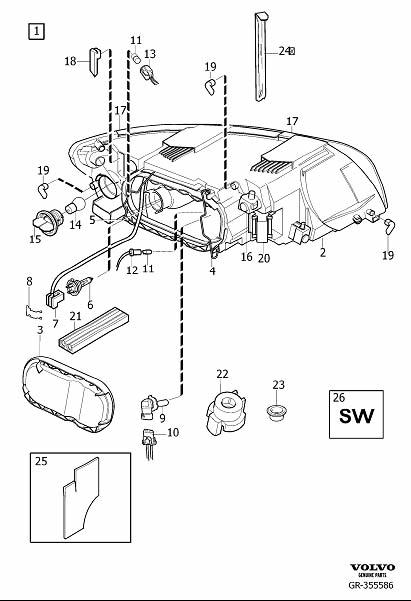 2011 Volvo C70 Headlight Adjusting Screw. Headlights
