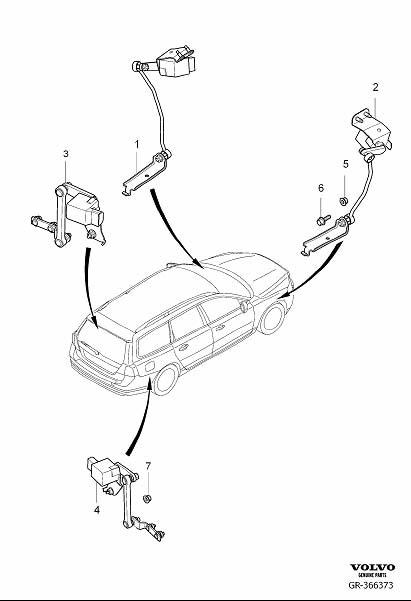 2015 Volvo XC70 Cmp Sensor. Position Sensor, Headlight