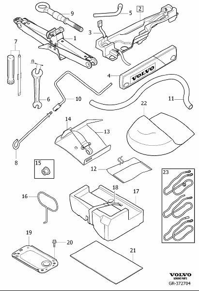 Volvo XC90 Wheel Lug Wrench. S70, V70. Jack, Tools, Socket