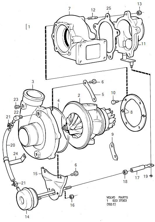 1981 Volvo 240 Segment. Genuine Classic Part. Turbocharger