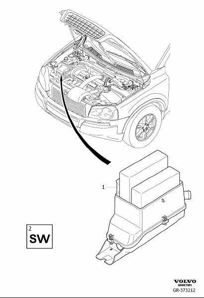 2003 Volvo XC90 Engine Control Module. 5CYL. B5254T2
