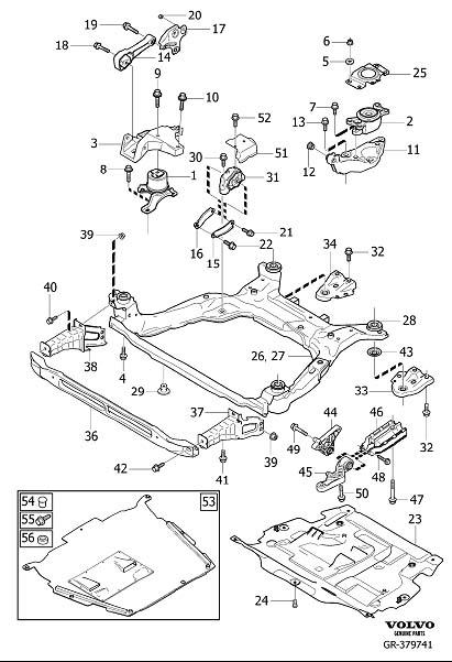2013 Volvo Bushing. Engine, Mountings, Lower, Manual