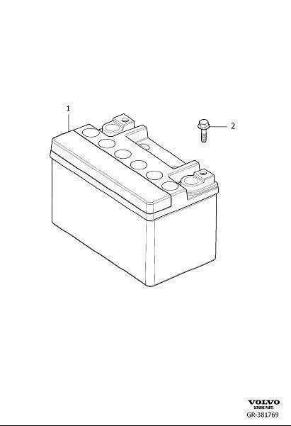 2015 Volvo XC70 Vehicle Battery. A power source for a