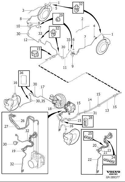 2007 Volvo XC90 Spacer. Brake Line with Connections. Fuel