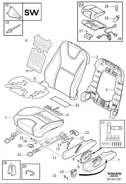 2015 Volvo XC60 Seat Heater Pad (Left, Right, Front