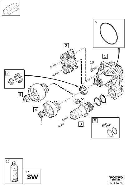 Volvo XC90 Transmission oil. AOC, Demand, Coupling