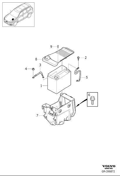 Volvo XC90 Vehicle Battery. A power source for a vehicle's