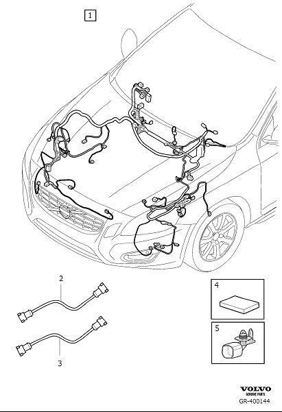Volvo S60 Insulator retainer. Harness, Cable, Bumper