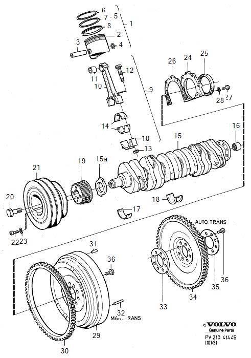 Volvo 240 Main bearing kit. Genuine Classic Part