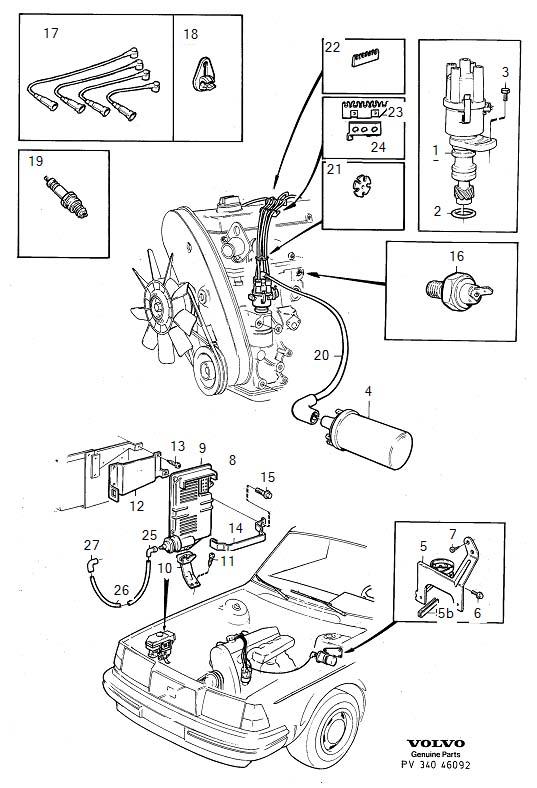 Volvo 240 Sensor. Genuine Classic Part. System, Ignition