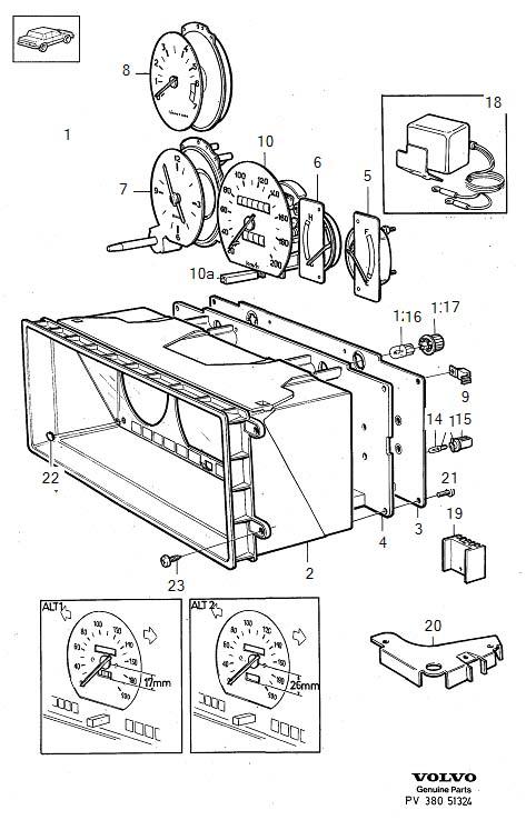 Volvo 240 Tachometer. Genuine Classic Part. Instrument