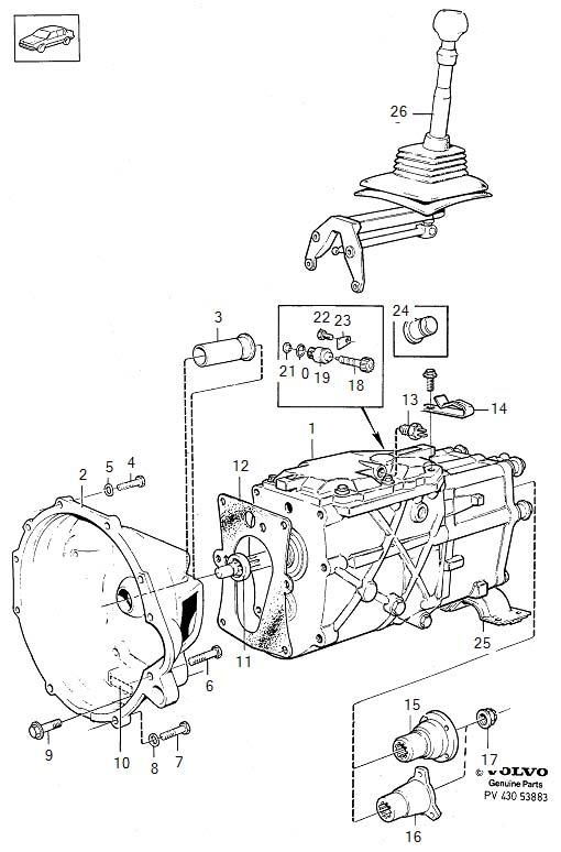 1997 Volvo O ring. O-ring. Transmission, gearbox, manual