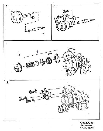1990 Volvo 740 2.3l Fuel Injected Repair kit. GARRETT