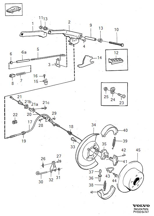 Service manual [Volvo 940 Parking Brake Adjustment