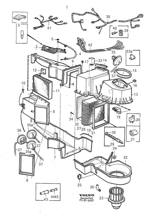 1986 Volvo 740 Hexagon Screw. COMBU. Heater Unit