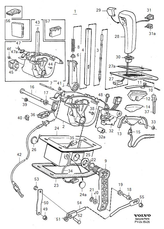 1993 Volvo 960 Gear shift lever knob. Gearshift, Control