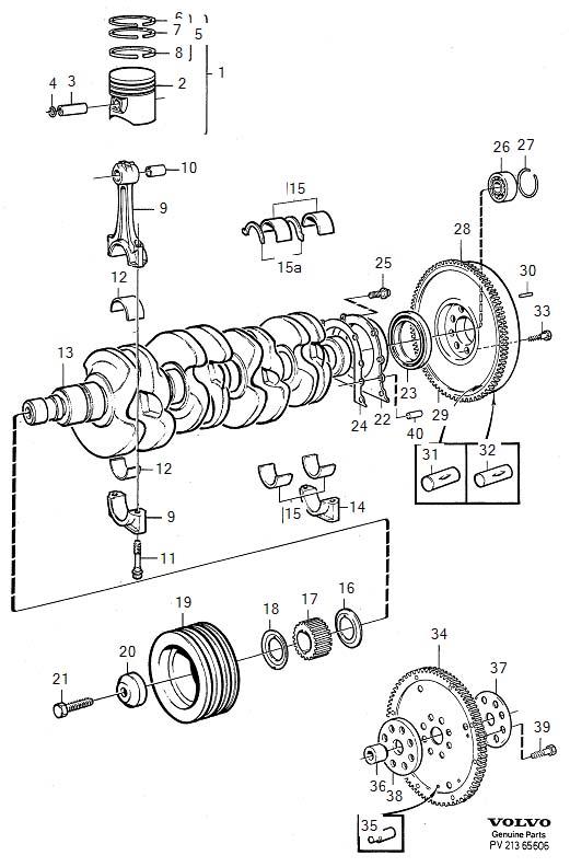 1989 Volvo 740 Clutch Flywheel Bolt. HEXAGON SCREW