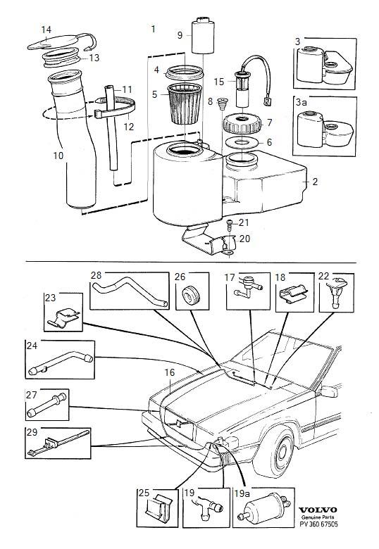 1989 Volvo Filter. Washers, Windshield, Windscreen