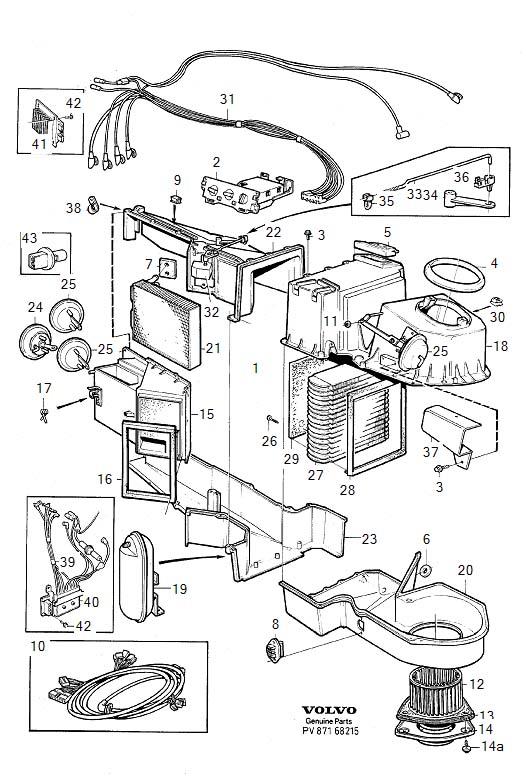 1991 Volvo 940 Sealing. COMBU. Heater Unit. Temperature