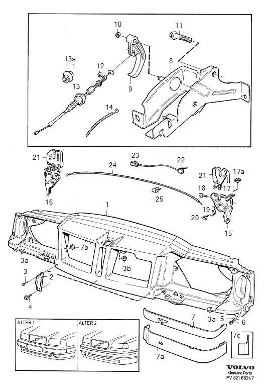 Volvo 850 Headlight Molding (Right, Front). MOULDING