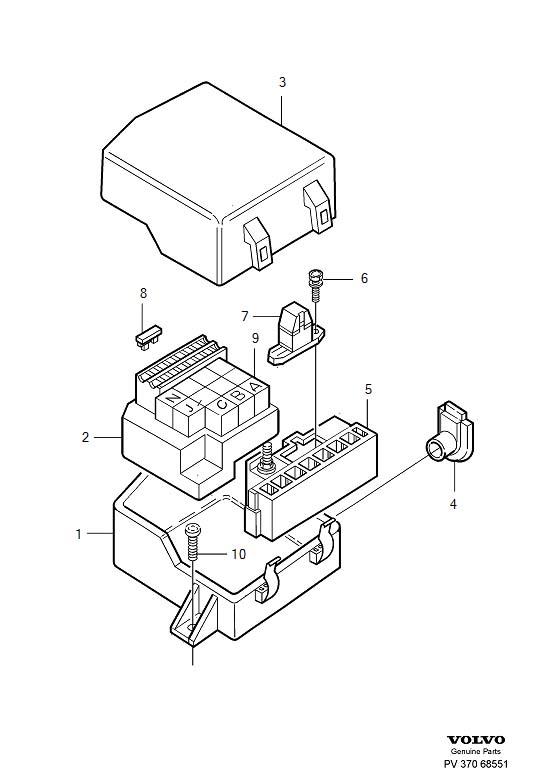 2007 Volvo Relay Box. FUSE HOLDER. 5CYL. 960 1995. 960