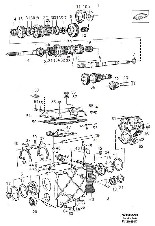 Volvo 240 Shim. 0.90 mm. Transmission, Gearbox, THK
