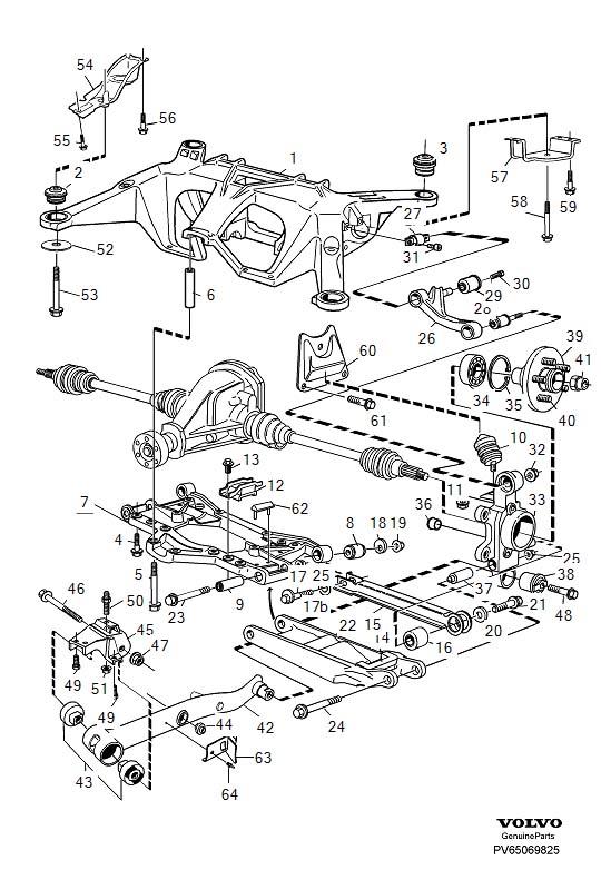 Volvo 960 Dirt Deflector. Suspension. (Right, Rear). 960