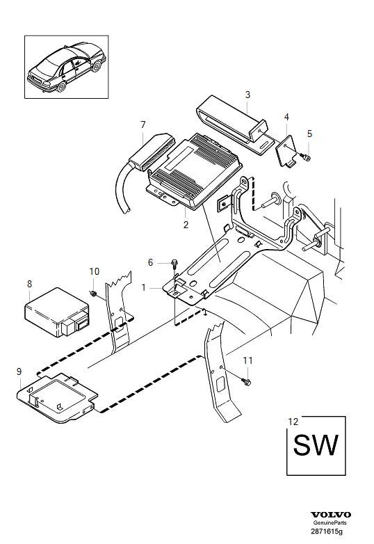 2000 Volvo V40 Cabin. Fuel Supply. Ignition System