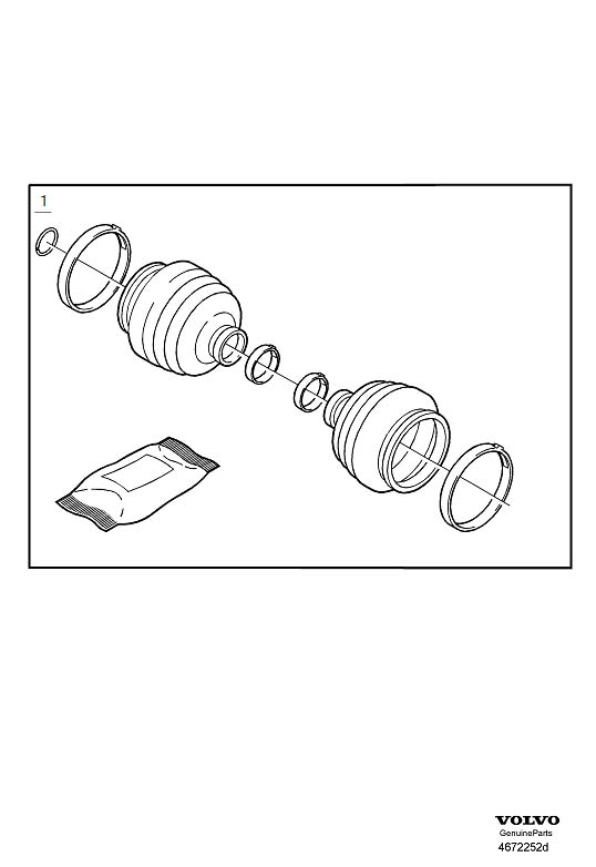 2002 Volvo S40 Cv joint boot kit (left, right, front