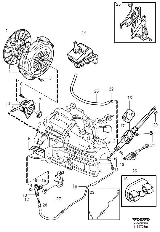 Volvo V70 Clutch Starter Safety Switch. Position Sensor