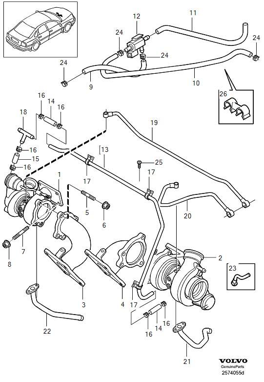 2001 Volvo S80 Turbocharger Boost Solenoid. SOLENOID VALVE