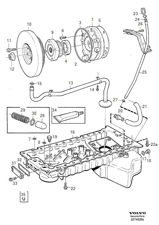 1997 Volvo V90 Engine Crankshaft Pulley. 1994. 6CYL