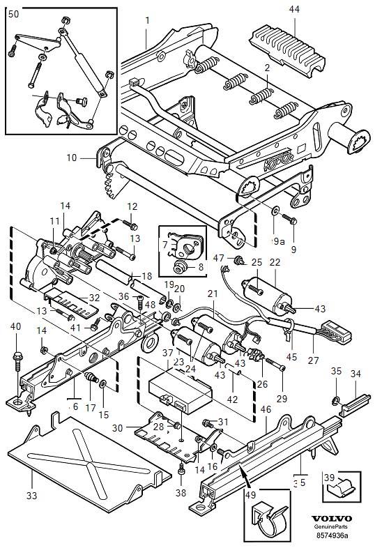 1998 Volvo C70 Electrical motor. Seat, Adjustment