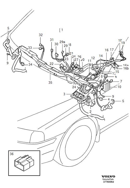 1999 Volvo S80 Rain Sensor Wiring Harness. RECEPTACLE