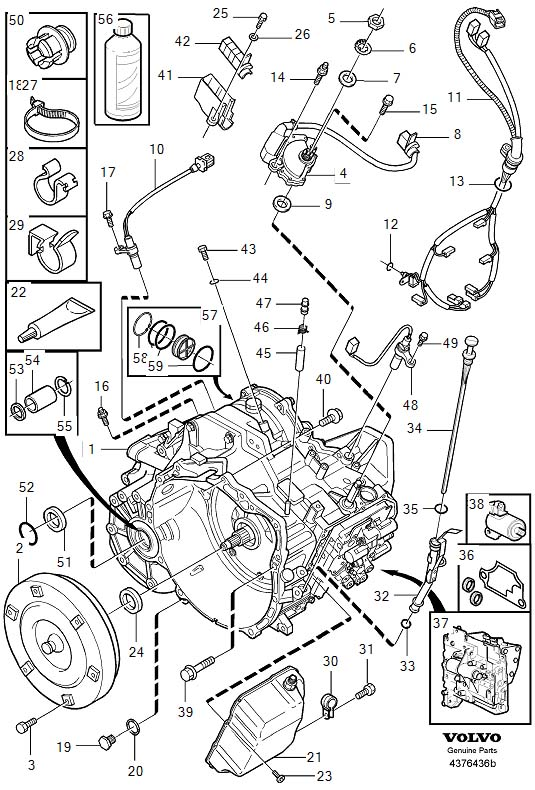 2001 Volvo C70 Piston kit. Automatic, Transmission