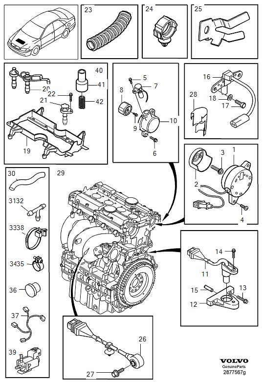 2000 Volvo S40 Engine Camshaft Position Sensor. Control