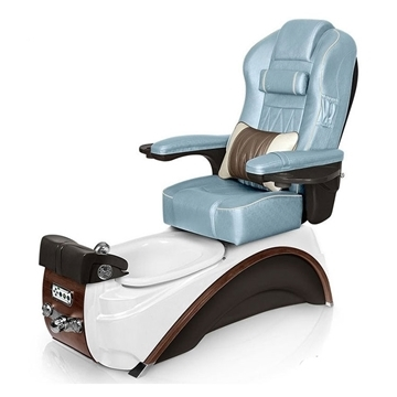 top rated pedicure chairs sam maloof chair plans lexor spa us elite in white pearl espresso base and glacier blue