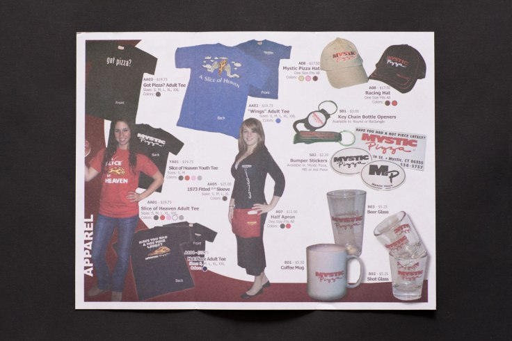 Mystic Pizza Merchandise Catalogue