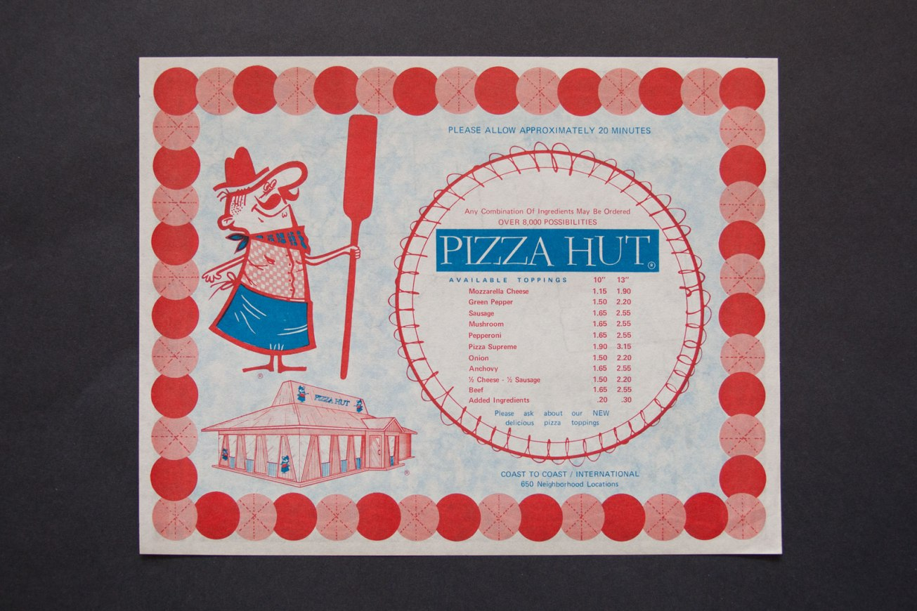 1970s Pizza Hut Placemat